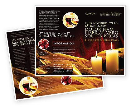 Candle Light Brochure Template, 04239, Religious/Spiritual — PoweredTemplate.com