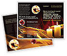 Religious/Spiritual: Candle Light Brochure Template #04239