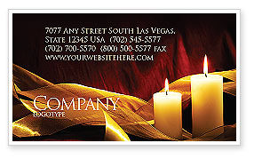 Candle Light Business Card Template