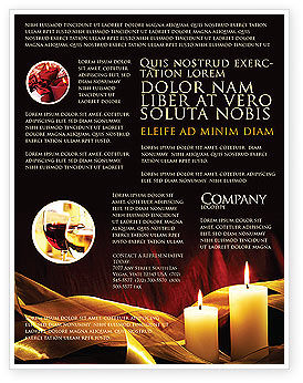 Candle Light Flyer Template, 04239, Religious/Spiritual — PoweredTemplate.com