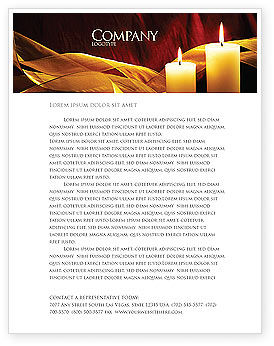 Candle Light Letterhead Template, 04239, Religious/Spiritual — PoweredTemplate.com