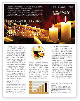Candle Light Newsletter Template, 04239, Religious/Spiritual — PoweredTemplate.com