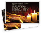 Religious/Spiritual: Candle Light Postcard Template #04239