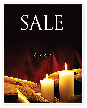 Candle Light Sale Poster Template, 04239, Religious/Spiritual — PoweredTemplate.com