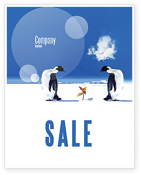 Nature & Environment: Antarctica Sale Poster Template #04240