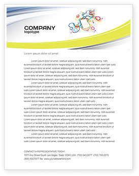 Technology, Science & Computers: Mp3 Player On Colored Background Letterhead Template #04242