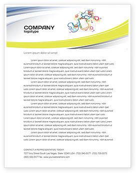 Technology, Science & Computers: Mp3 Speler Op Gekleurde Achtergrond Briefpapier Template #04242