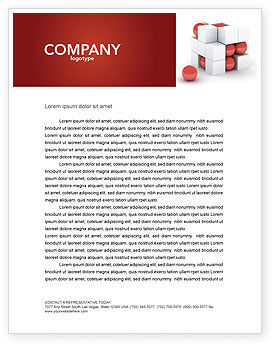 Cubic Structure Letterhead Template, 04243, Construction — PoweredTemplate.com