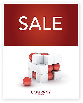 Construction: Cubic Structure Sale Poster Template #04243