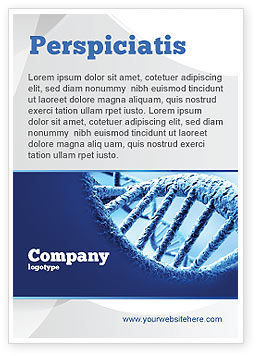 DNA Molecular Structure Ad Template, 04245, Medical — PoweredTemplate.com