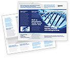 Medical: Dna分子结构宣传册模板 #04245