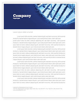 Medical: DNA Molecular Structure Letterhead Template #04245
