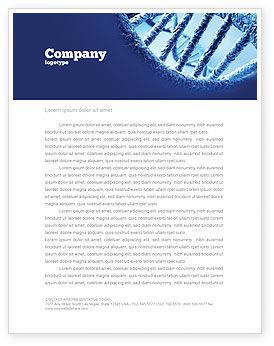 DNA Molecular Structure Letterhead Template