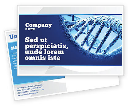 DNA Molecular Structure Postcard Template, 04245, Medical — PoweredTemplate.com