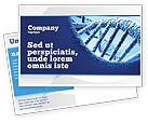 Medical: DNA Molecular Structure Postcard Template #04245