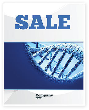 Medical: DNA Molecular Structure Sale Poster Template #04245