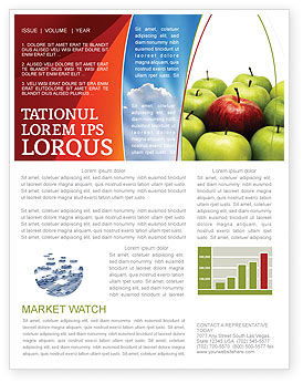 Another Sort Newsletter Template, 04246, Agriculture and Animals — PoweredTemplate.com
