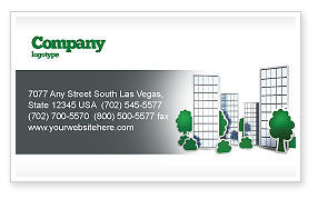 Construction: Plan Of Gardening District Business Card Template #04248