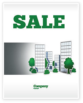 Plan Of Gardening District Sale Poster Template, 04248, Construction — PoweredTemplate.com