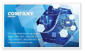 Technology, Science & Computers: Hardware Development Business Card Template #04249