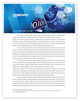 Technology, Science & Computers: Hardware Development Letterhead Template #04249