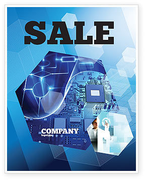 Technology, Science & Computers: Hardware Development Sale Poster Template #04249