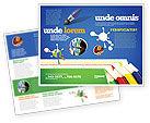 Education & Training: Color Pencils Lines Brochure Template #04251