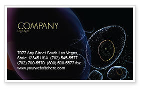 Medical: Organic Cells Nucleus Business Card Template #04252