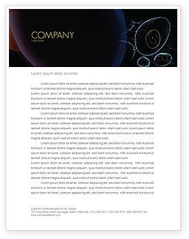 Medical: Organic Cells Nucleus Letterhead Template #04252