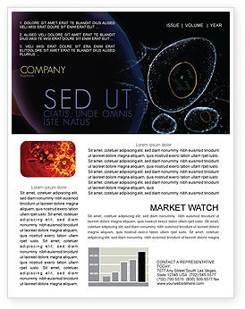 Medical: Organic Cells Nucleus Newsletter Template #04252