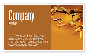 Temptation Business Card Template, 04255, Religious/Spiritual — PoweredTemplate.com