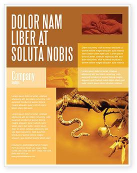 Temptation Flyer Template, 04255, Religious/Spiritual — PoweredTemplate.com