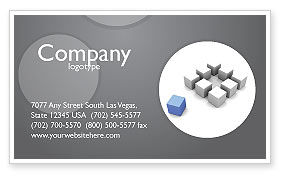 Business Concepts: Gambit Business Card Template #04256