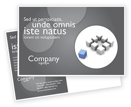 Gambit Postcard Template, 04256, Business Concepts — PoweredTemplate.com