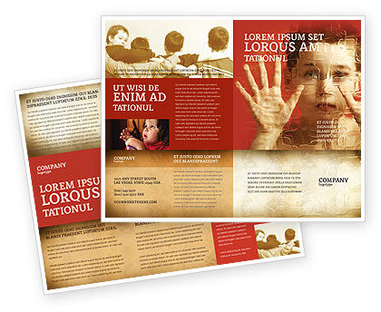 Autism Brochure Template, 04257, Medical — PoweredTemplate.com