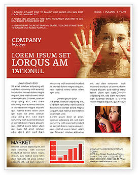 Autism Newsletter Template, 04257, Medical — PoweredTemplate.com