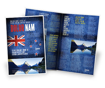New Zealand Brochure Template