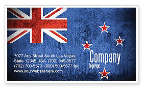 Flags/International: New Zealand Business Card Template #04258