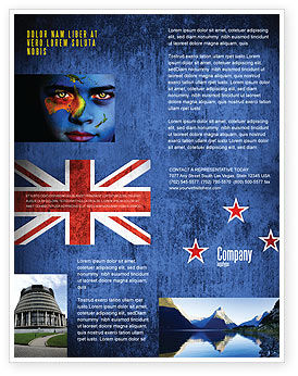 New Zealand Flyer Template, 04258, Flags/International — PoweredTemplate.com