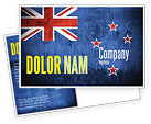 Flags/International: New Zealand Postcard Template #04258