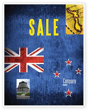 Flags/International: New Zealand Sale Poster Template #04258