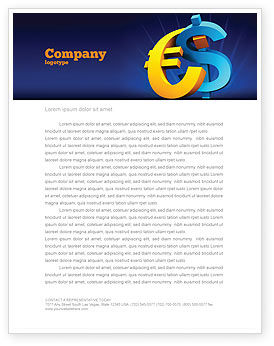 Euro vs. Dollar Letterhead Template, 04268, Financial/Accounting — PoweredTemplate.com