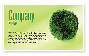 Global: Green Land Business Card Template #04269