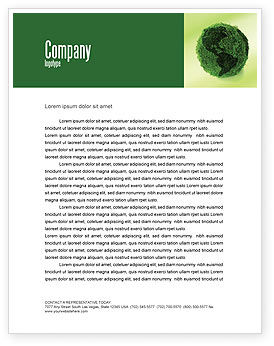 Global: Green Land Letterhead Template #04269