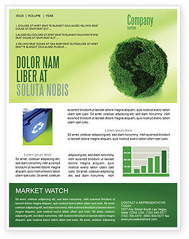 Global: Green Land Newsletter Template #04269