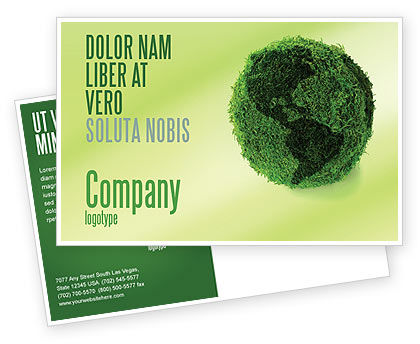 Global: Green Land Postcard Template #04269