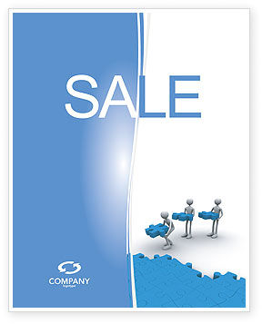Offshore Development Sale Poster Template, 04271, Consulting — PoweredTemplate.com