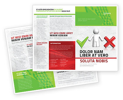 Dilemma Brochure Template, 04272, Education & Training — PoweredTemplate.com