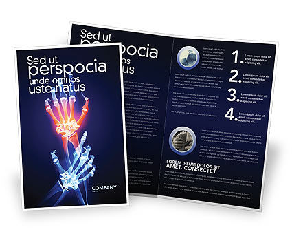 Arthritis Brochure Template, 04273, Medical — PoweredTemplate.com