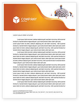Smart Thinking Letterhead Template, 04279, Construction — PoweredTemplate.com